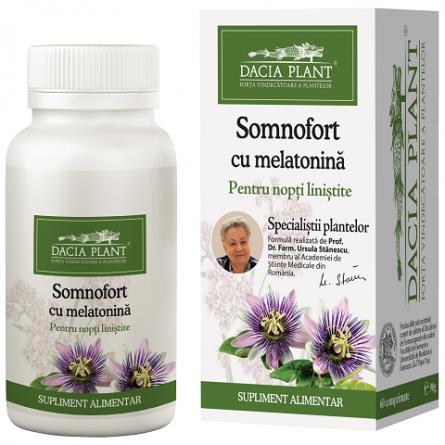 Somnofort cu melatonina 60 comprimate