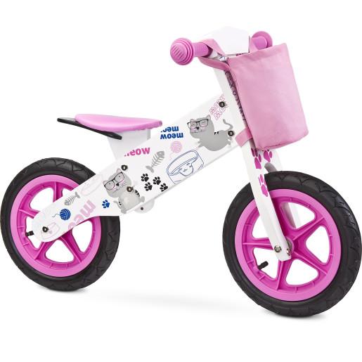 bicicleta fara pedale roz